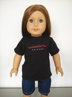 wholesale cotton t shirt jeans pant american girl doll clothes 18 inch