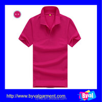 OEM Custom 100%Polyester Plain Color Golf Shirt Dry Fit