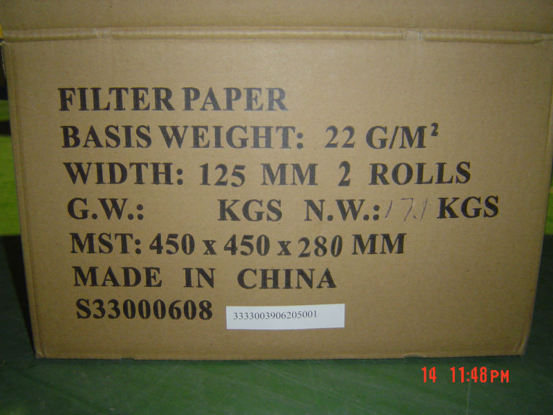 unbleached wooden pulp teabag filter paper