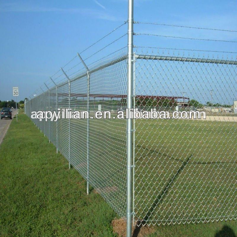2013 Galvanized chain link fence post diameter for sale