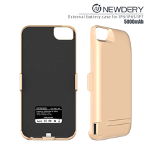 2017 hot selling <strong>portable</strong> mobile charging cover 5000mah charging case for iphone 6/6s/7 5000mah