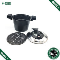 aluminum multi funtion micro pressure cooker low pressure cooker ceramic round large steamer pot