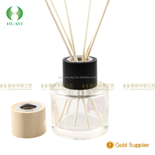Different color wooden cap for reed diffuser glass bottle