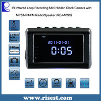 Multifunction IR Clock Digital Camera, Mini Spy Camera Clock , Mini Clock Radio Hidden DVR- Continuous power or battery