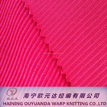 Polyester Vietnam Textile Warp Knitted Corduroy Garments and Textile Fabric for Clothing