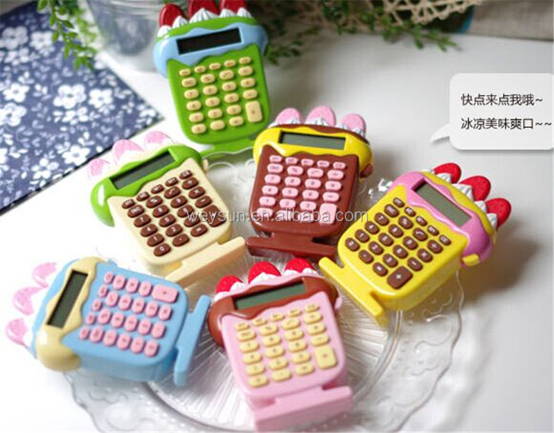 100pcs stationery cute cartoon super adorable mini portable student calculator on sale DHL Freeshipping