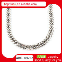 Trending hot products artificial silver long chain imitation necklace