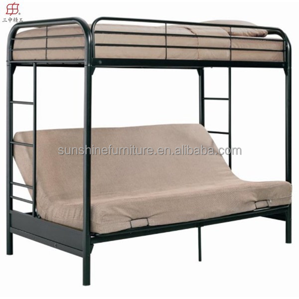 Cheap modern bedroom furniture futon metal sofa bunk bed for Cheap metal bunk beds