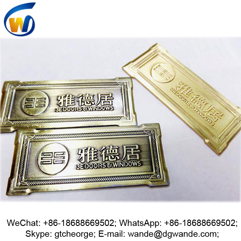 custom antique brass metal plates for furniture