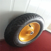 3,5*8 2PR Metal Wheel set with axel hot sale high quality