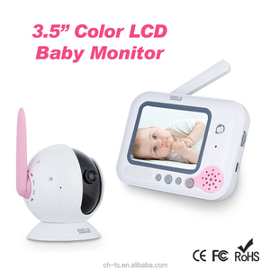 "3.5"" LCD 2.4GHz Digital Video baby monitor lullabies for twins"