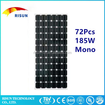 Mono solar panel 185W home use or commercial use 2017new product