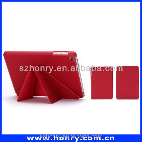 New style stand function leather case for ipad shockproof protector