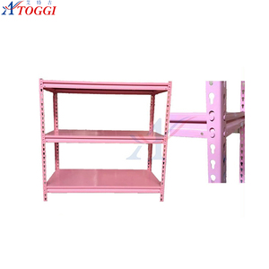 light duty collapsible household steel angle iron storage shelf