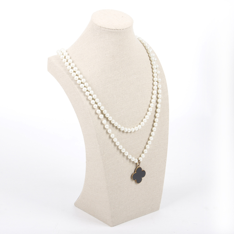 China supplier high end for sale stand Fine Linen Jewelry necklace display neck shape bust