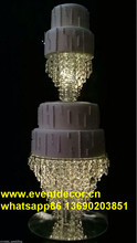 crystal chandelier cake stand for wedding decoration/hanging crystal cake stand for wedding cake