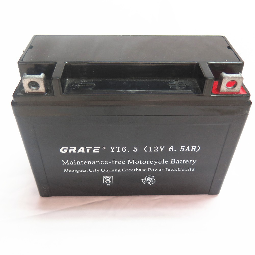 sealed maintenance free agm motorcycle batteries for suzuki 12v 6.5ah scooter batteries