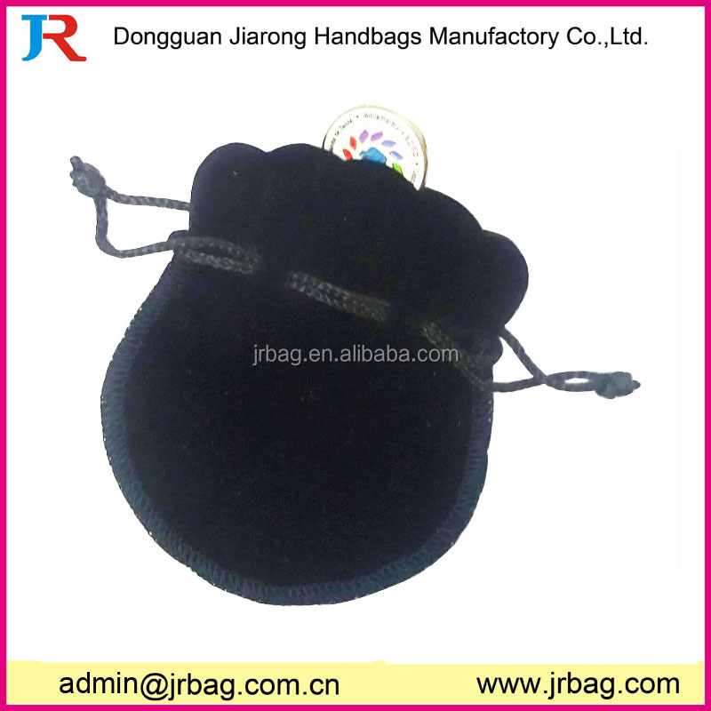 customer black drawstring velvet pouch bags for luxury