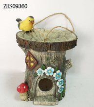 Fairy Animal Bird Bath Bird House Custom Resin Figurine