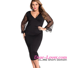 Wholesale Sexy Plus Size One piece dress latest for fat lady