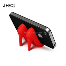 Custom multifunctional cellphone mount flexible funny mini silicone ladies high-heel shoe phone holder