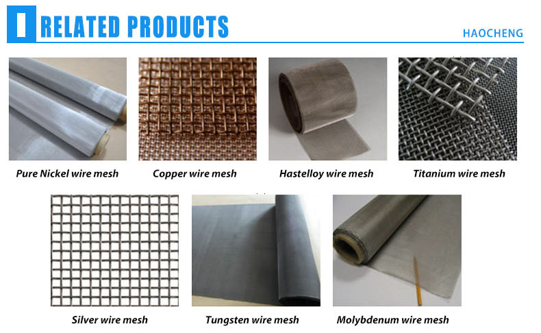 325 mesh nickel alloy monel k500 wire mesh screen for industry