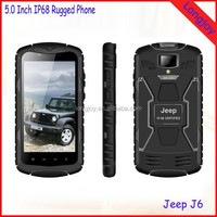 "5"" Rugged IP68 Waterproof Cell Phone Jeep J6 Quad Core MTK6582 1GB RAM 8GB ROM Dual Sim Card"