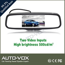 Dual video inputs car rear view mirror for vw passat