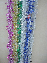 promotionnal christmas wired tinsel garland decorative christmas foil garlands