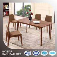 lowest price factory supply wooden dining table with with solid wood legs