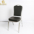 high quality fabric cushion dining room gold aluminum stacking banquet chair