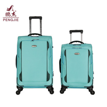 Factory customized cheap fabric vintage iron trolley luggage for kids