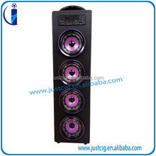 Professional supplier wholesale custom colorful wood dual 4bass big dj speaker box,wooden bluetooth speaker