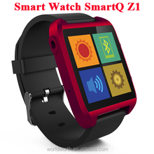 wrist watch tv mobile phone 100% Original SmartQ Z1 Smart Watch For Iphone / Samsung Galaxy Note3 WIFI Bluetooth Android 4.3