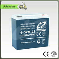 Rechargeable 6-DZM-22 12v 22ah electric scooter lead acid battery