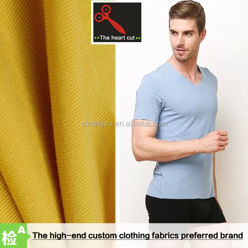 Free sample 2016 OEM Factory price 92% Combed Cotton 8% spandex single jersey fabric