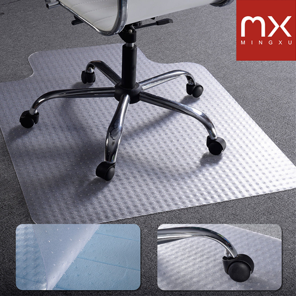 Phthalate-Free PVC 36 x 48 Chair Mat For Low Pile Carpets