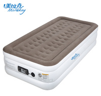 Mirakey new style flocked single size mattress inflatable bed with electric pump air bed mattress