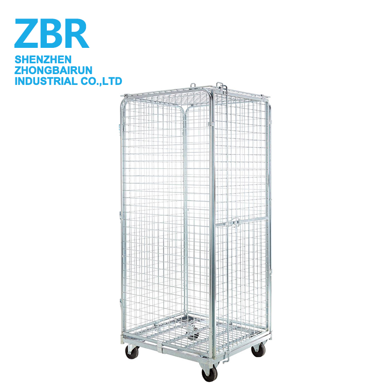 Customized Folding Roll Containers Cart for Carrier Cart