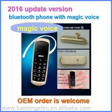 2016 newest come magic voice bluetooth phone 0.66 inch model J8