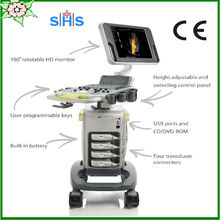 Trolley 4D color doppler ultrasound machine with CE&ISO mindray brand