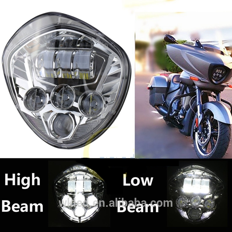 "WEIKEN 7"" round led headlight motorcycle 12V/24V 60w DOT victory Motorcycle head lamp"