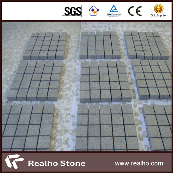 G654 Dark Grey Granite Cobble Stone For Cheap Landscaping Stone