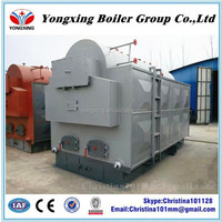 Hand burn horizontal DZH series coal fired low pressure industrial steam boiler