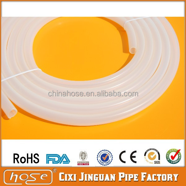 Supply UK, America USA FDA Milk Beer Water Medical & Food Grade Transparent Vacuum Silicone Tube/Hose, High Heat Vacuum Hose