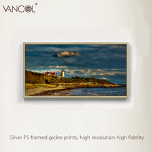 Fashion knife landscape painting beautiful coastal village scenery oil painting for wall arts