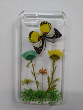 Fancy butterfly Phone Case with Real Flower pressed in, marvel phone cases