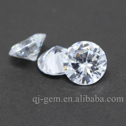 Factory cubic zirconia price 4mm round shape AAA quality cz loose gemstone for rings