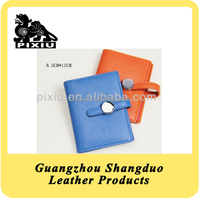 New Promotional Colourful Leather Fancy Name Card Holder