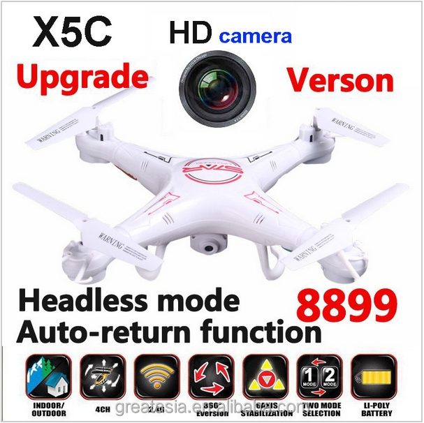 2016 New X5C-1 2.4G RC Quadcopter Remote Control Helicopter X5C Upgrated 8899 Drone With HD Camera Headless Mode & Auto return
